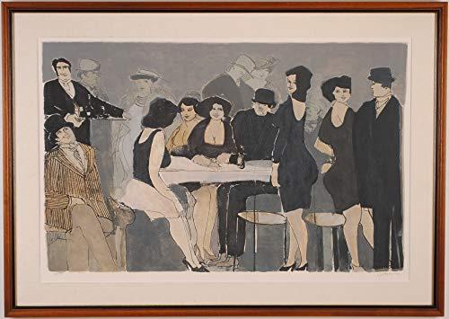 デビット・シュノイヤー 「レストラン・2」 シルクスクリーン 版画
