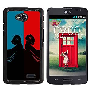 LECELL -- Funda protectora / Cubierta / Piel For LG Optimus L70 / LS620 / D325 / MS323 -- Daft Duel Punk Band --