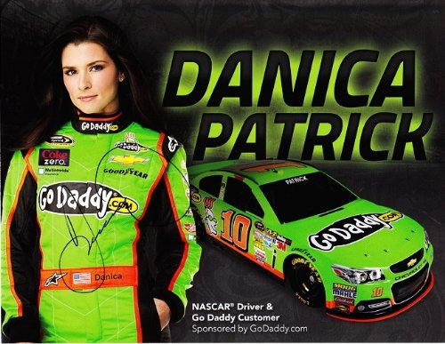 Autographed 2013 Danica Patrick  10 Godaddy Com Racing  Sprint Cup Series  9X11 Nascar Signed Hero Card W  Coa