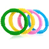 Baby Teether - 4 Silicone Sensory Baby Teething Ring Toys - Fun, Colorful and BPA-Free - Soothing Pain Relief and Drool Proof Infant Toys - Solve Teething Now