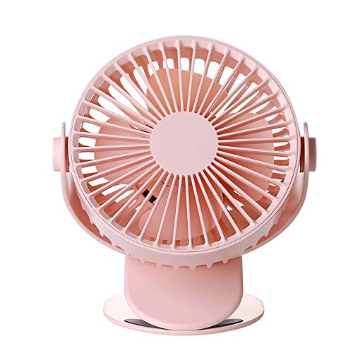 LUCY STORE Small Desktop Clip Mini Fan 360° Rotation Portable USB Repeater Fan Child Bedside Cool (Color : Pink)