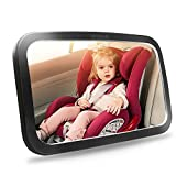 Shynerk Baby Car Mirror, Safety Car Seat Mirror for Rear Facing Infant with Wide Crystal Clear View, Shatterproof, Fully Assembled, Crash Tested and Certified: more info