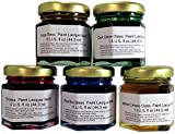 Glass Paint Lacquer Stain Sample Kit, 5 Pack, 1.5-ounce Professional, Permanent Stained Glass Finish