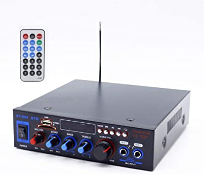 XMAGG® MIini Amplificador Karaoke Bluetooth 100W + 100W ...