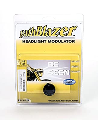 Motorcycle Headlight Modulator With Plug n Play Programming, No-cut, pathBlazer By Kisan Designed For Your Bike with Daylight Sensor, Easy Install P115W
