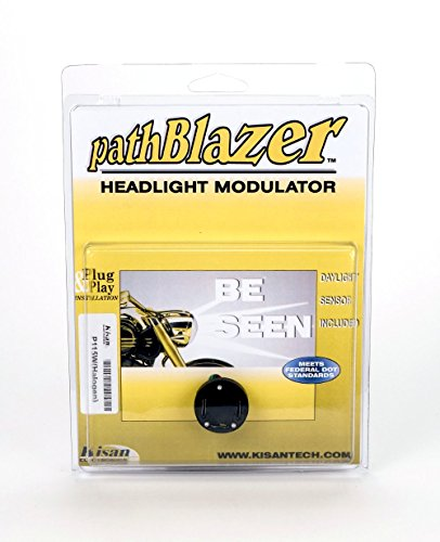 - H4 Motorcycle Headlight Modulator P115W for LED or Conventional bulbs. Plug n Play Programming, No-cut, pathBlazer By Kisan Designed For Your Bike with Daylight Sensor, Easy Install 9003