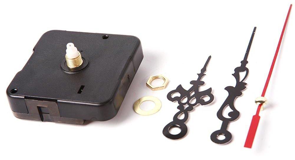 Taloyer Quartz Movement Mechanism Silent Clock Black and Red Hands DIY Part Kit Tool