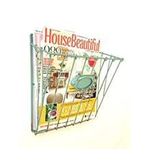 Wire Magazine Newspaper Basket Wall Mounted Post Mail Storage Rack Vintage Style