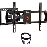 ECHOGEAR Full Motion Articulating TV Wall Mount Bracket for most 37-70 inch LED, LCD, OLED and Plasma Flat Screen TVs w/ VESA patterns up to 600 x 400 - 16' Extension - EGLF1-BK