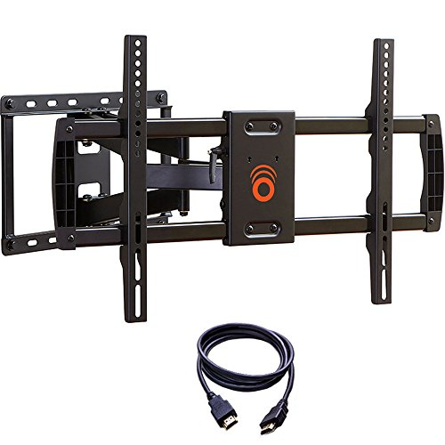 ECHOGEAR Full Motion Articulating TV Wall Mount Bracket for most 37-70 inch LED, LCD, OLED and Plasma Flat Screen TVs w/ VESA patterns up to 600 x 400