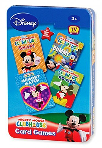 Disney Mickey Mouse CLUBHOUSE 4 in 1 Card Games Set