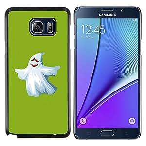 Caucho caso de Shell duro de la cubierta de accesorios de protección BY RAYDREAMMM - Samsung Galaxy Note 5 5th N9200 - Fantasma blanco divertido Scary lindo Ku Klux Klan