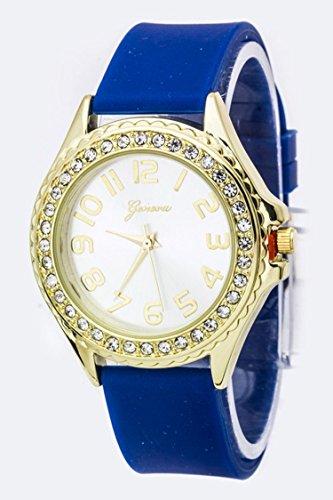 Trendy Fashion Jewelry Crystal Bezel Fashion Jelly Watch By Fashion Destination | (Old Trifari Costume Jewelry)