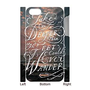 Bible verse Custom 3D Phone Case for iPhone 4,4S by Nickcase