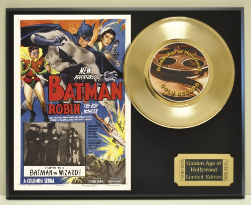 """Robert Lowery and John Duncan in""""Batman and Robin"""", Limited Edition 45 Record Display. Only 500 made. Limited quanities. FREE US SHIPPING"""
