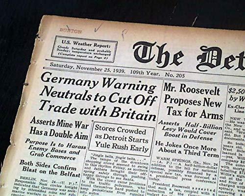 Harry Greenberg Assassination 1939 Newspaper Gangster Bugsy Siegel Murder Inc Collectibles