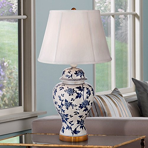 Rose Vine Blue And White Temple Jar Table Lamp Buy