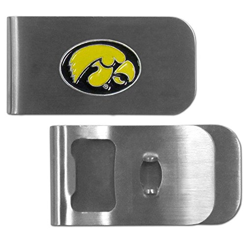 Siskiyou NCAA Iowa Hawkeyes Bottle Opener Money Clip ()