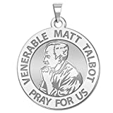 Venerable Matt Talbot - Available in Solid 10K And14K Yellow or White Gold, or Sterling Silver