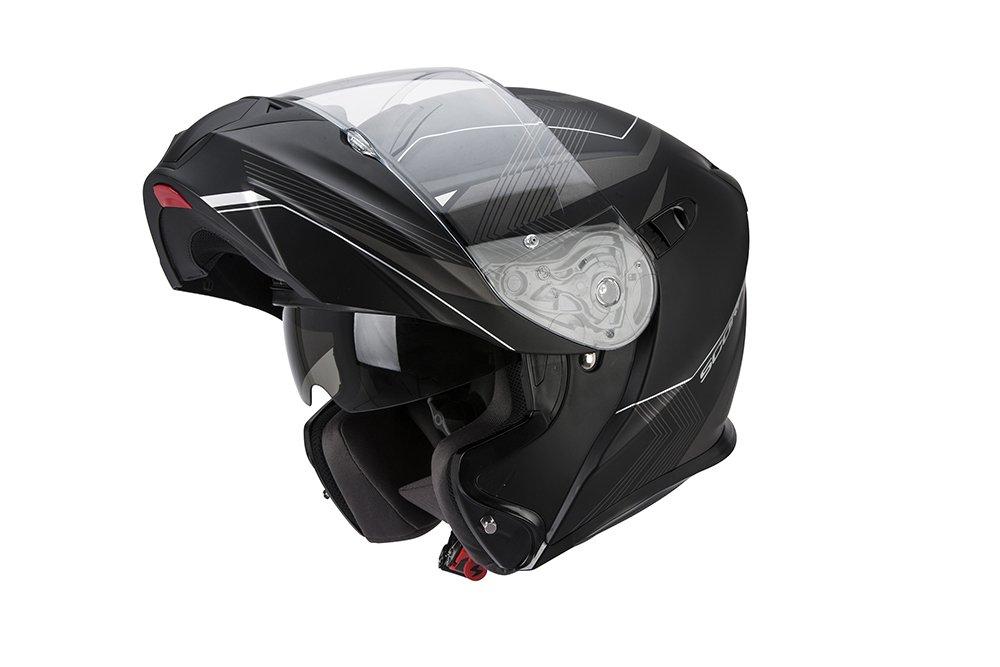 Scorpion EXO-920 Solid Modular Negro MATE con pantalla Solar interior Talla S