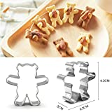 Teddy Bear Shape Cookie Cutters Animal Biscuit for Kitchen