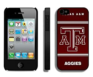 Southeastern Conference SEC Football Texas A&M Aggies 04 Black Best Buy Customized Design iPhone 4S Case