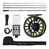 Piscifun Fly Rod and Reel Combo Fly Fishing Complete 5/6 Fly Fishing Complete Starter Package Fly Fishing Kit, Fly Fishing Combo for Beginners