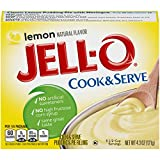 Jell-O Cook & Serve Lemon Pudding & Pie Filling, 4.3 oz Box