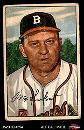 1952 Bowman 12 Max Surkont Boston Braves Baseball Card Deans Cards 2