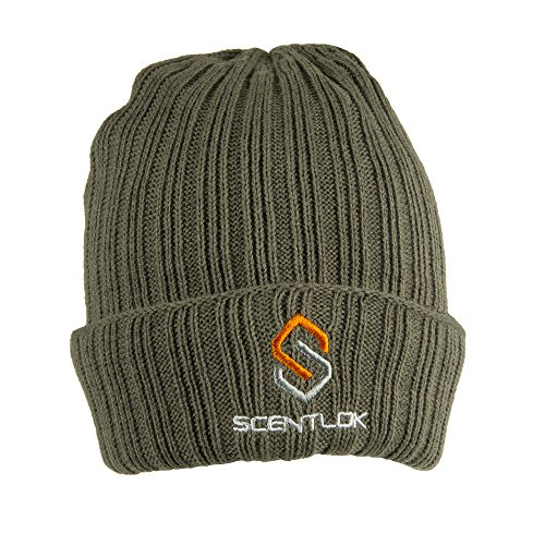ScentLok Mens Carbon Alloy Knit Cuff Beanie, Forest Green, One Size