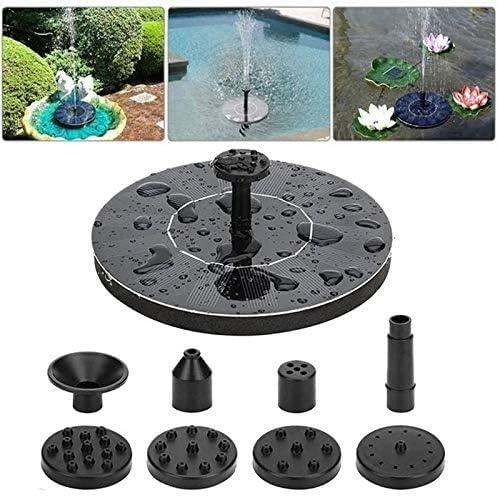 Swinkl - Bomba de agua solar para jardín, 1,5 W, con 6 boquillas flotantes, para baño de pájaros, peces, estanque o decoración de jardín: Amazon.es: Hogar