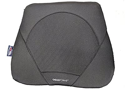 ObusForme Gel Seat Cushion, Contoured Memory Foam Base For Comfort and Support, Includes Soft Gel Insert To Cushion Sitting Bones, Hybrid Gel/Memory Foam Designed For A Luxurious Sitting Experience