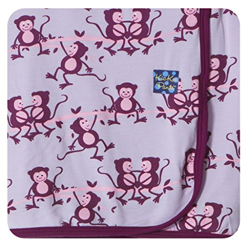 KicKee Pants Swaddling Blanket, Thistle Monkey