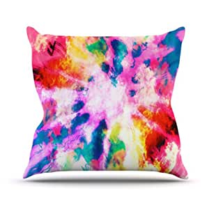 """Kess InHouse Caleb Troy """"Technicolor Clouds"""" Outdoor Throw Pillow, 18 by 18-Inch"""