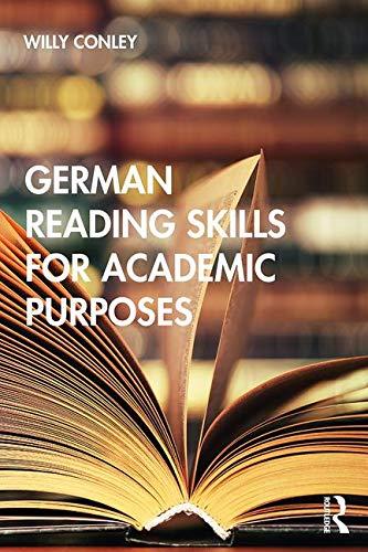 German Reading Skills for Academic Purposes (English and German Edition)