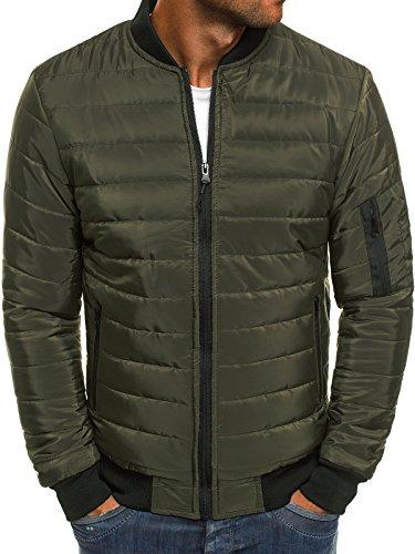 Mix Chaqueta j Jacket Capucha Style Chaqueta de Hombres Verde con Ak84 Chaqueta Chaqueta Invierno style para de Cuero 3056 J Vaquera OZONEE dHwYOd
