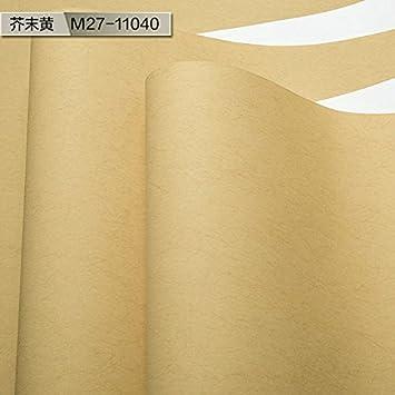 YUELA Mi Su papier peint aux couleurs chaudes pure couleur crème ...