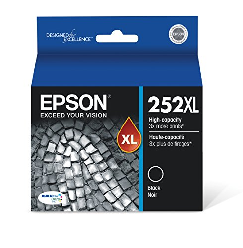 Epson T252XL120 DURABrite Ultra Black High Capacity Cartridge Ink (Epson Workforce Wf3620 Ink)