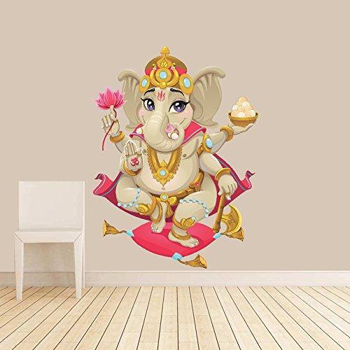 Lord Ganesh Wall Decal // Large Ganesa Wall Sticker // Lord Ganesha Wall Decoration // Lord Ganesha Kids Wall Sticker // Ganapati // Vinayaka // Pillaiyar // Lord of Good Fortune - WDSET10070