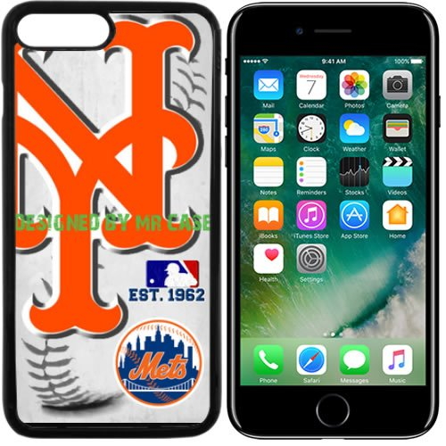 Mr Met Light (Mets New York Baseball New Black Apple iPhone 7 Case By Mr Case)