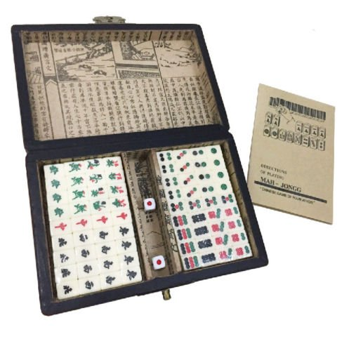 Professional Chinese Mahjong Set, Louzedaya Traditional Chinese Version Mahjong Game Set ( Mah-Jongg,Mahjongg, Mah Jongg, Majiang),Special Design for English Speaker, Easy To (Professional Mahjong)