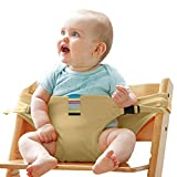 Portable Baby Feeding Chair Belt - Toddler Safety Harness - Baby Safe Seating Wrap - Shopping Cart Safety Strap - Outdoor Portable Travel High Chair Booster Baby Seat Soft Belt #81086 (Beige)