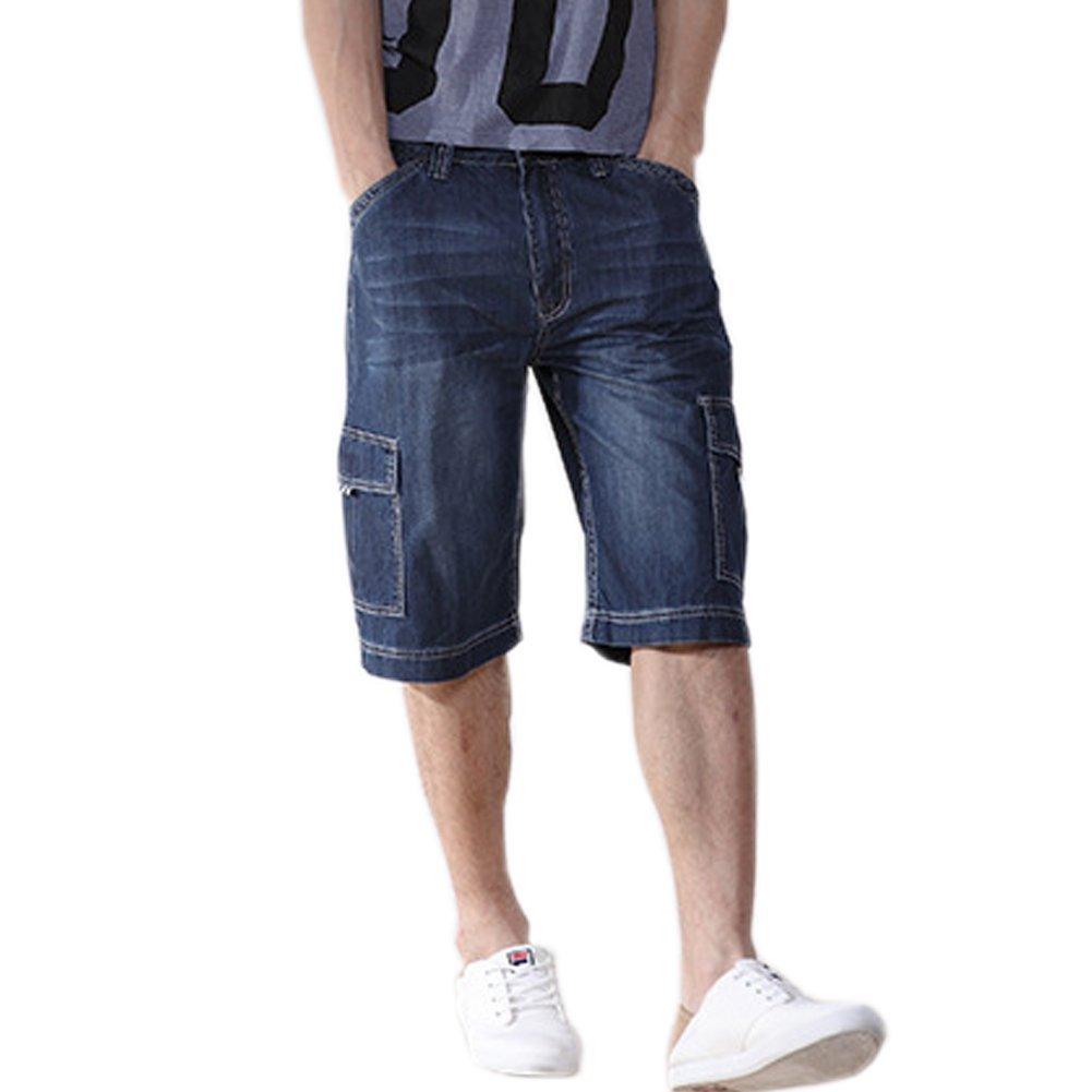 LIYT ZENGLI Men's Classic Loose Jean Shorts ( Thin )