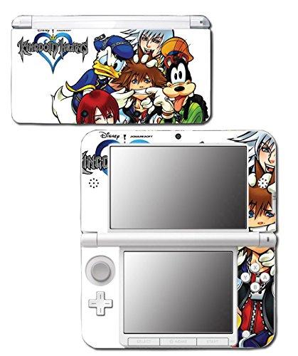 Kingdom Hearts Goofy Sora Donald Mickey Video Game Vinyl Decal Skin Sticker Cover for Original Nintendo 3DS XL System