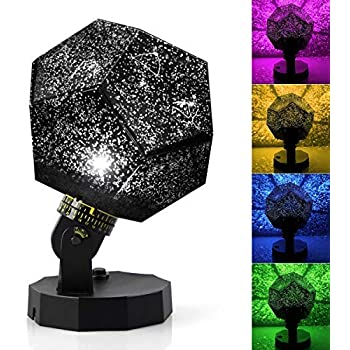LED Night Lighting Lamp for Baby Nursery Kids Adults Bedroom Decor 360 Degree Rotating Ceiling Projector Light 8 Light Projection Modes JAMSWALL Stars Sky Night Light Projector