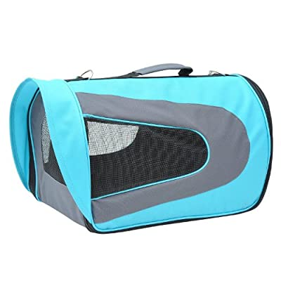 PawHut Soft Sided Pet Airline Carrier Dog Cat Bag Mesh Crate Tote Transport Comfort Foldable