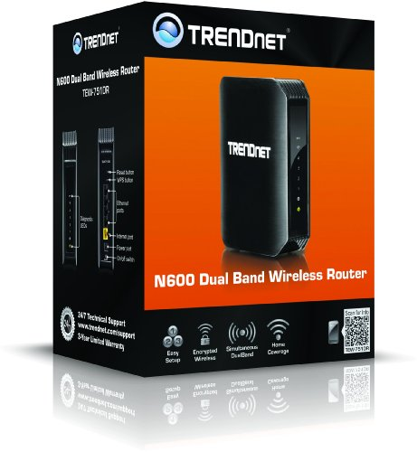 51wHgN6feIL - TRENDnet Wireless N600 Concurrent Dual Band Router, TEW-751DR
