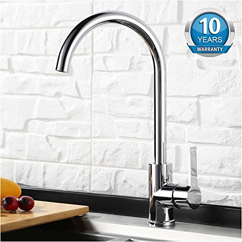 Direct Kitchen - Kitchen Faucet Single Cold/Hot Faucet - 360° Rotate Kitchen Sink Faucet by APOSHION DIRECT (Chrome)