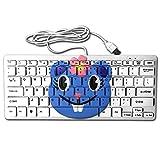 Cute Cartoon Soil Rat Portable Whisper-Quiet 78Key Wired Usb Ultrathin Mini Keyboard
