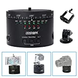 Sevenoak Pro Motorized Rotating Time Lapse Tripod Head Camera Mount for iPhone GoPro Action Canon 5D2 5D Nikon D800 D300 Panasonic Camcorder HD DSLR Cameras (with GoPro adapter&phone clip)